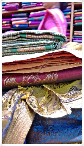 from the backseat of an autorickshaw: shopping for sarees and wedding gold