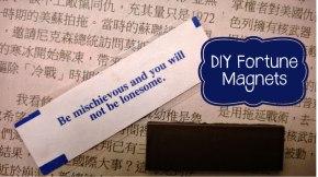 diy fortune magnets