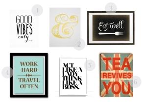 style sheet: inspirational wallprints