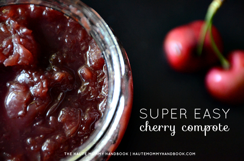 super easy cherry compote-title