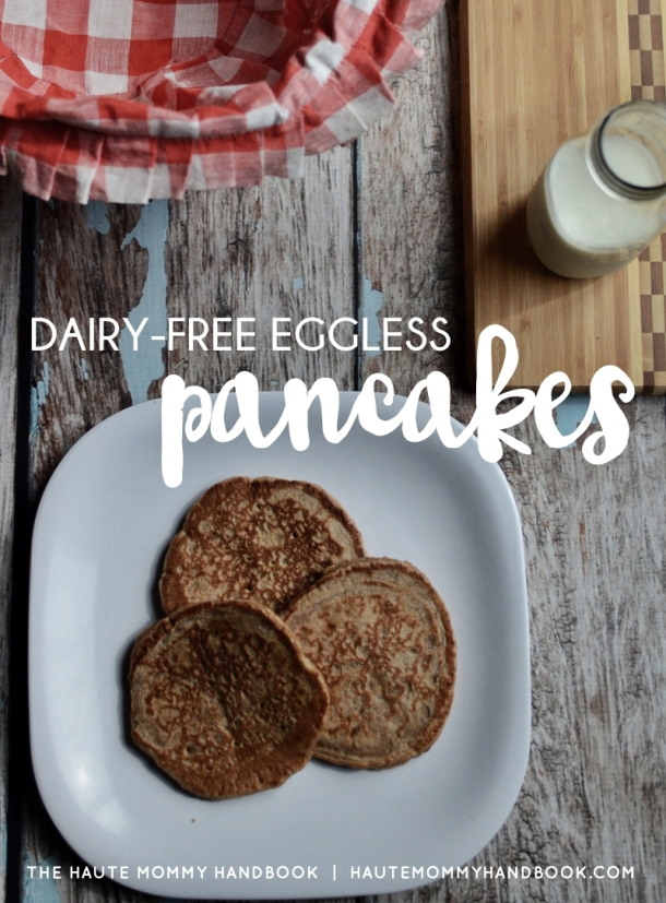 dairy free eggless pancakes-cover