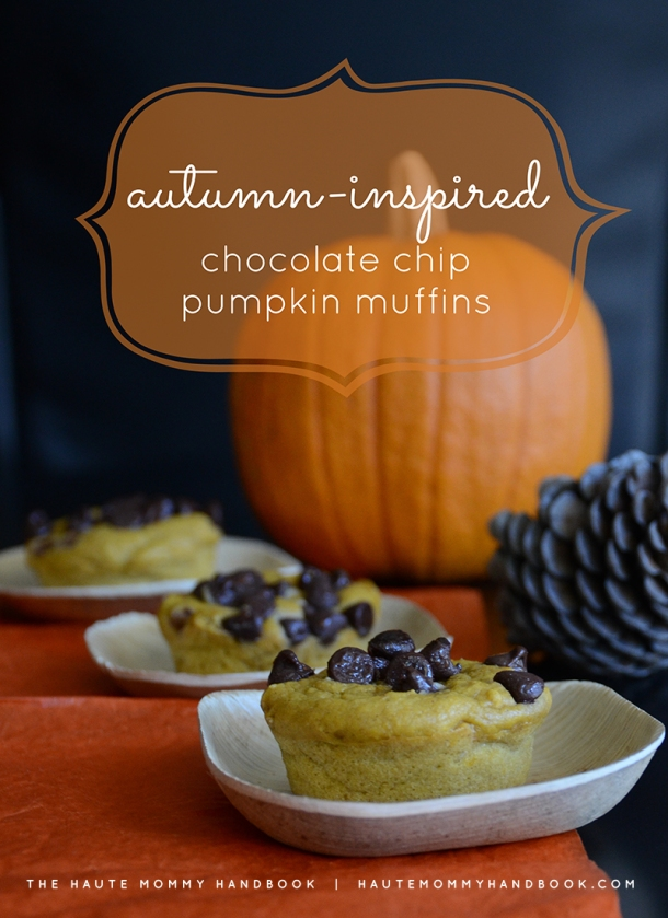 autumn inspired choco pumpkin muffins