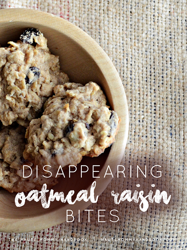 disappearing oatmeal raisin bites