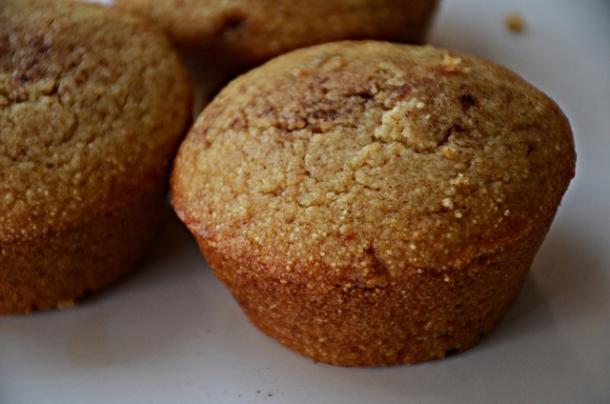 raisin farina muffin-closeup