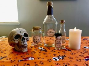 diy halloween apothecary jars